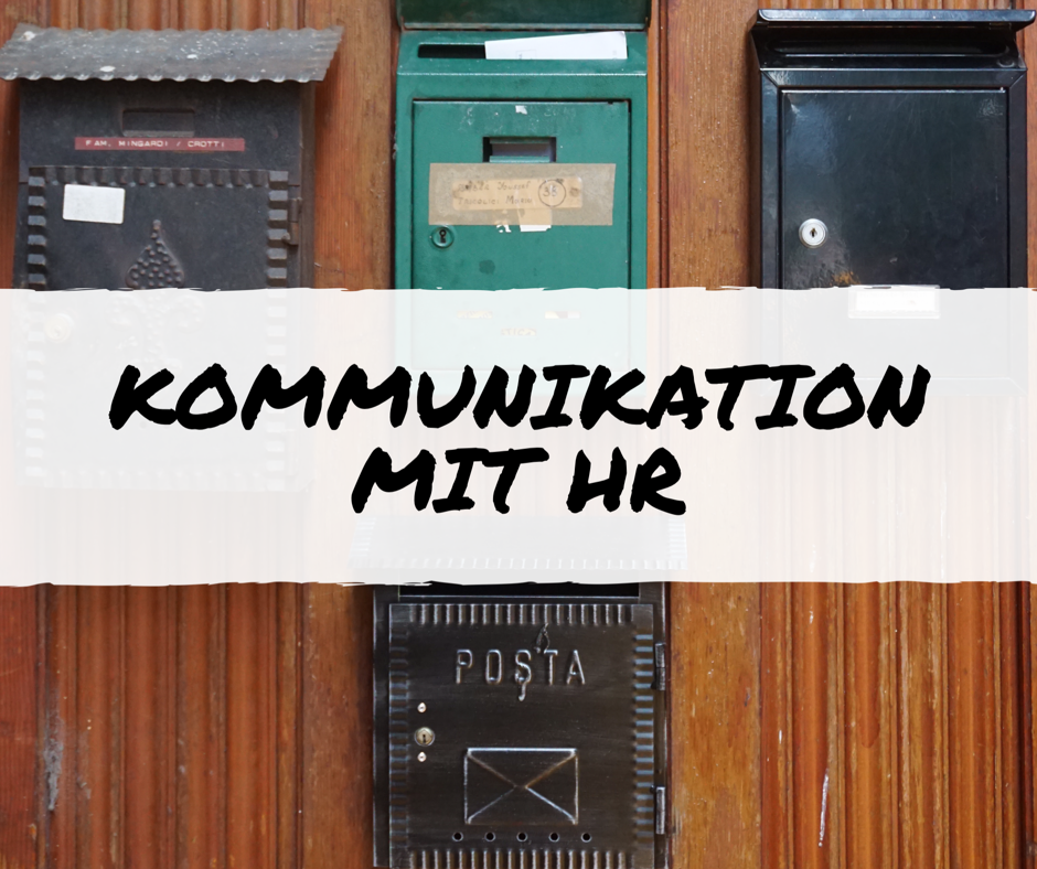 Kommunikation mit HR